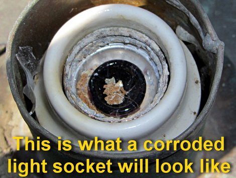 corroded light bulb socket
