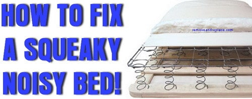 fix squeaky bed
