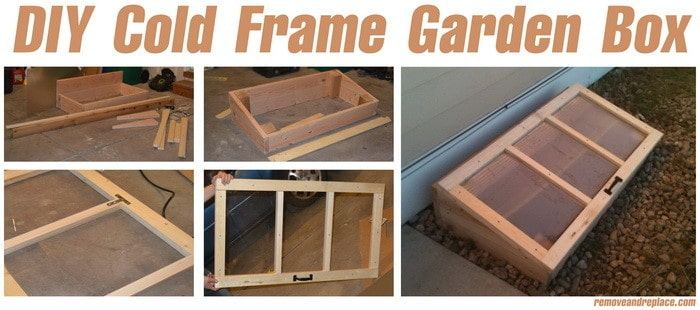 garden box items needed for the diy cold frame