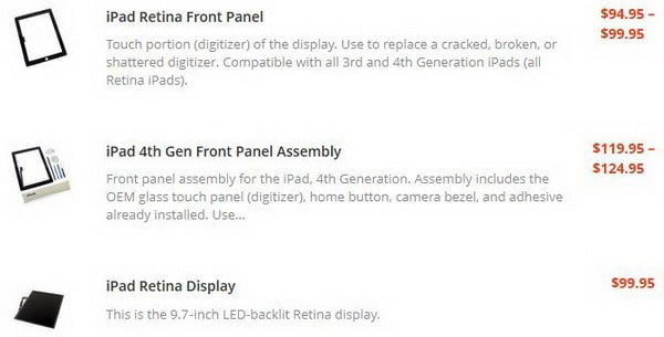 ipad replacement screen info 5