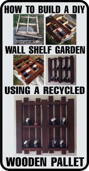 How To Make A Wooden Pallet Shelves : How To Build A Herb Garden Wall Shelf From A Wooden Pallet ...