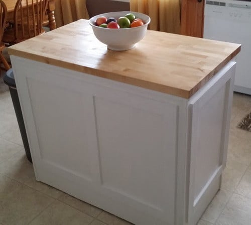 Ikea Domsjo Farmhouse Sink Reviews ~   attach the DIY kitchen island into your kitchen floor using the proper