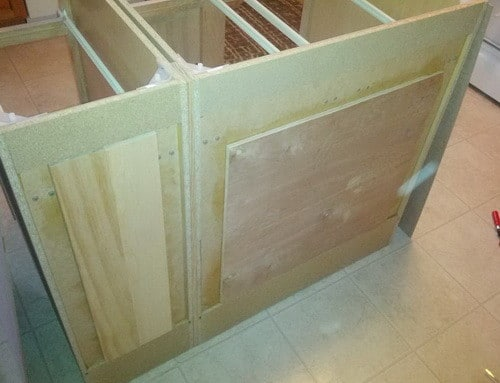 how to make a diy kitchen island and install in your installing kitchen cabinets family handyman