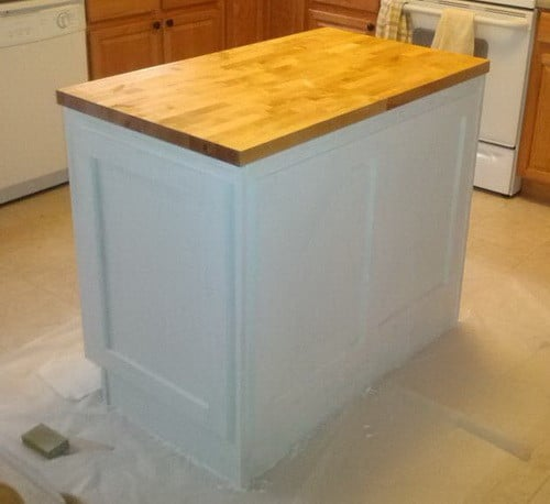 how to make a diy kitchen island and install in your kitchen rh removeandreplace com how to install a kitchen island to the floor how to install a kitchen island countertop