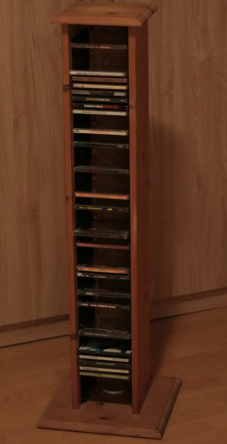 Repurposed and Reinvented CD Rack To Wine Rack_02