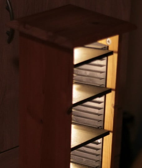 Repurposed and Reinvented CD Rack To Wine Rack_06