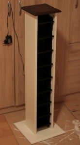 Repurposed And Reinvented Cd Rack To Wine Rack 08