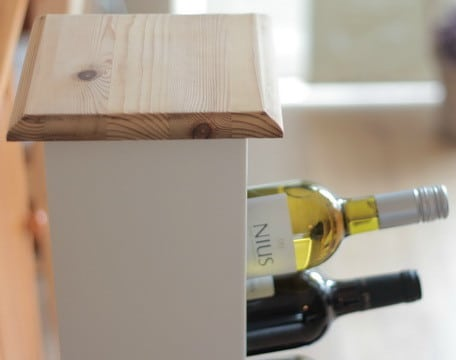 Repurposed and Reinvented CD Rack To Wine Rack_10