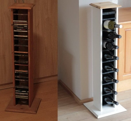 Repurposed and Reinvented CD Rack To Wine Rack_12