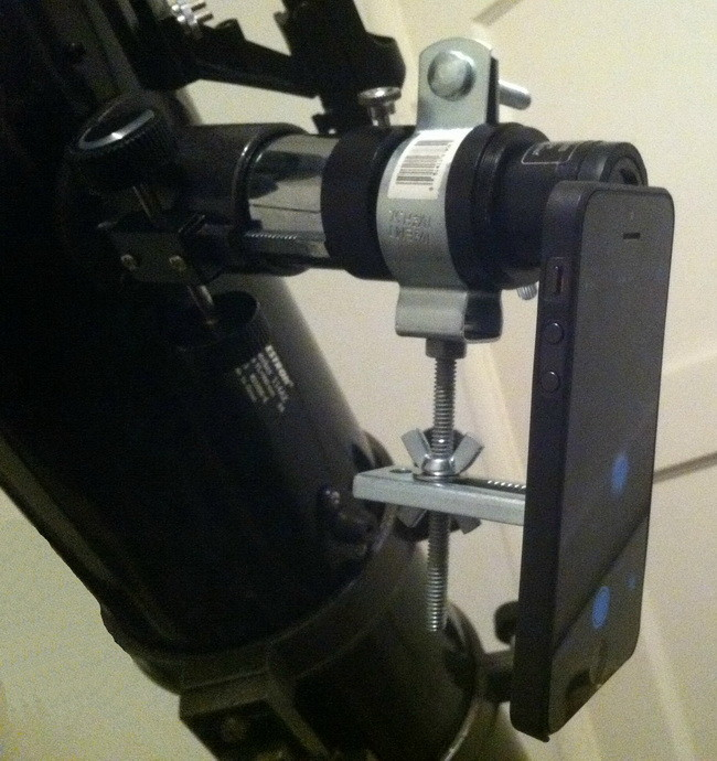 Smartphone to telescope camera mount_2