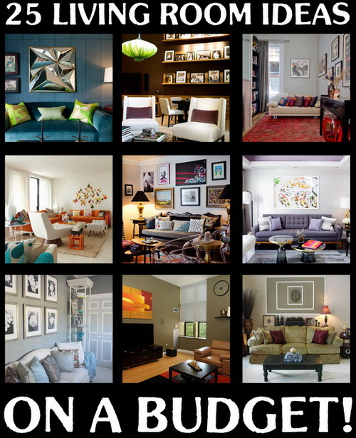 25 beautiful living room ideas on a budget for Room design on a budget
