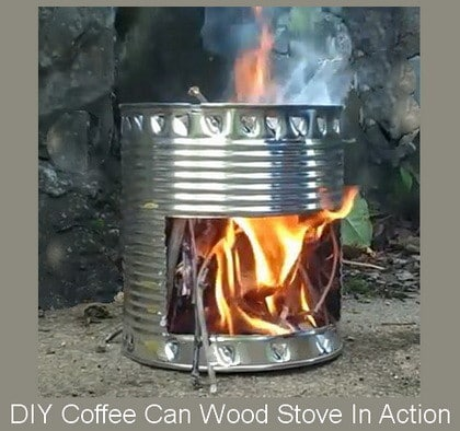 DIY Wood Stove - How To Make From A Coffee Can | RemoveandReplace.com