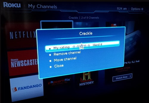 delete roku channel
