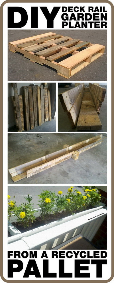 diy deck rail garden planter