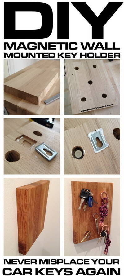 How To Make A Diy Wall Mounted Magnetic Key Holder