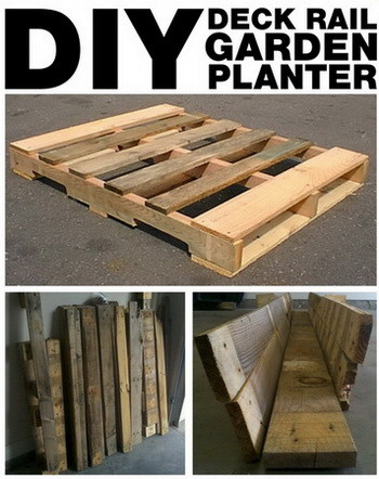 pallet recycle to deck rail planter