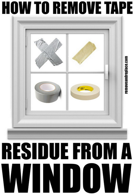 remove tape residue from window