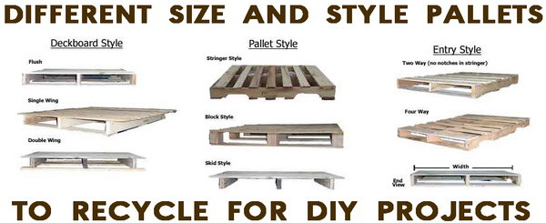 types of pallets to use for recycling diy projects