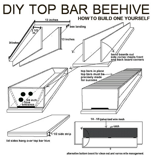 How To Build Your Own DIY Top Bar Beehive ...