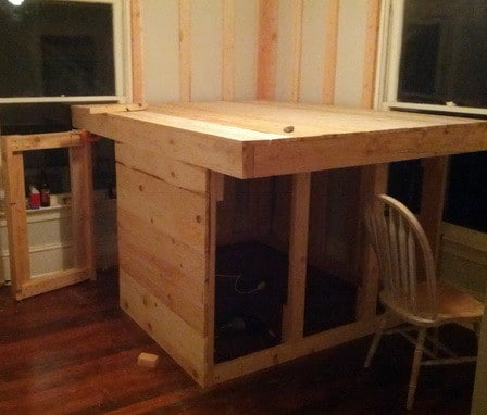 Diy Elevated Kids Bed Frame With Storage Area