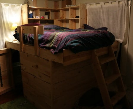 DIY Elevated Bed Frame With Storage Underneath_10