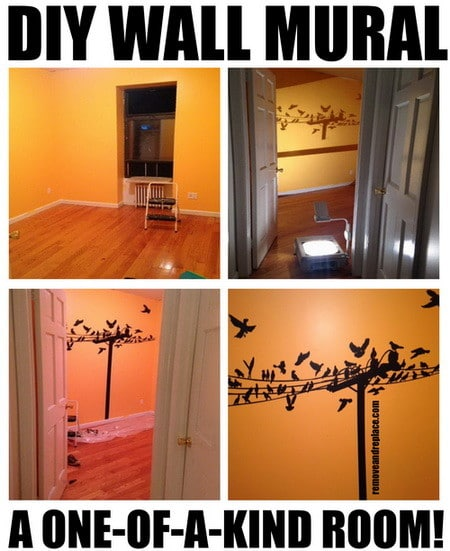How to make a diy wall mural painting for Diy wall photo mural