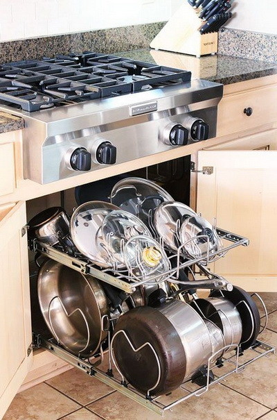 Kitchen pots and pans storage ideas_21