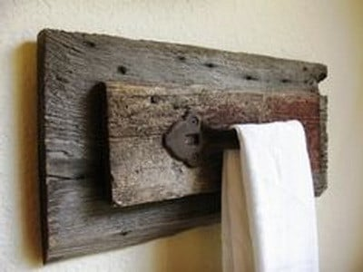 barn door handle made into hand towel holder