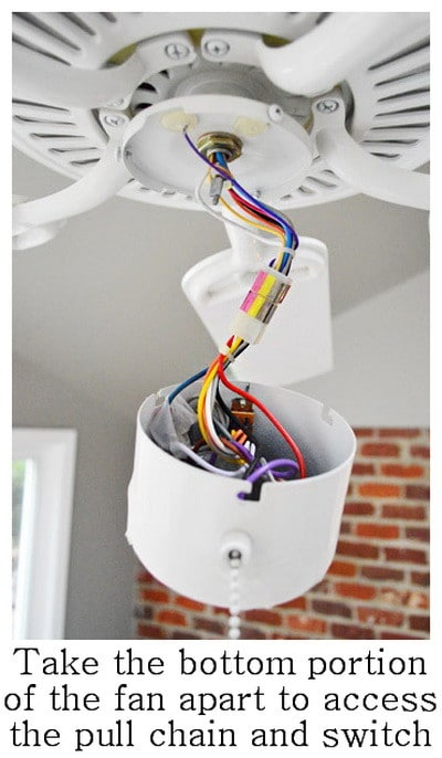 How To Fix A Ceiling Fan Light Switch Pull Chain