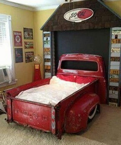 ford pickup truck made into a bed