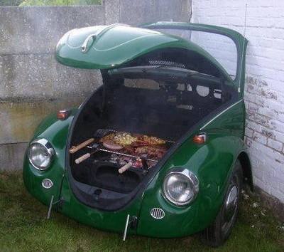 volkswagen turned into a grill