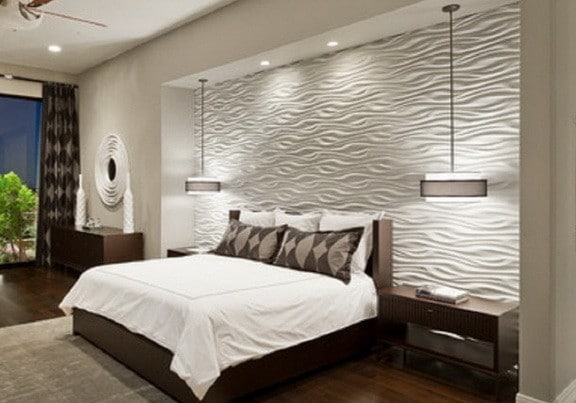 Wood Accent Wall Master Bedroom