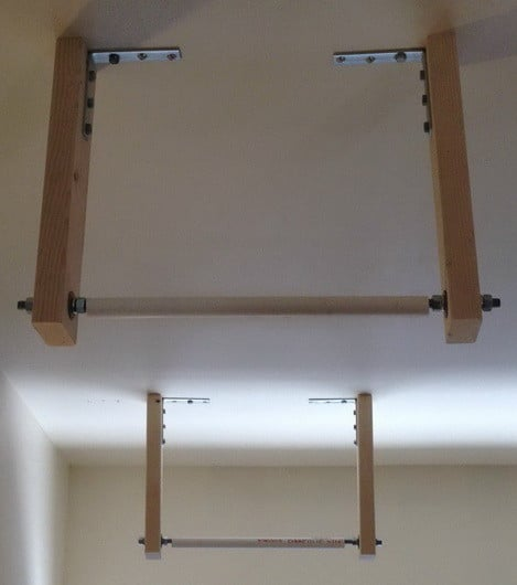 How To Store A Ladder On The Ceiling_6