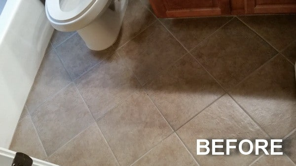 Seal Tile And Grout 2 Before Applying A High Gloss Finishing Sealer To Floor Bathroom