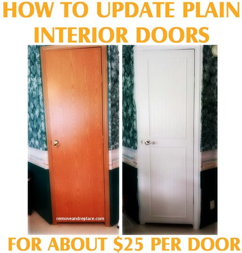 How To Update Plain Flat Interior Doors Removeandreplace Com