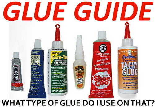 What Is The Best Adhesive To Glue This To That Glue Guide Chart