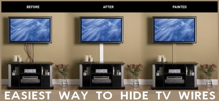 hide tv wires how to the easy way. Black Bedroom Furniture Sets. Home Design Ideas