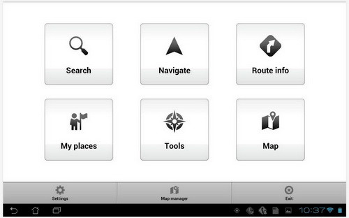 mapfactor android app screenshot