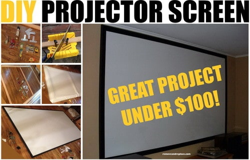 DIY Projector Screen For Under $100 Dollars ...