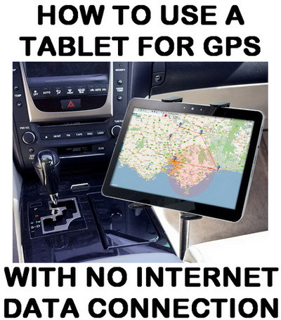 tablet for GPS