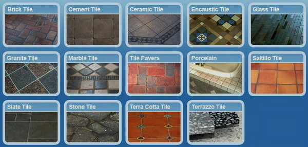 tile flooring types