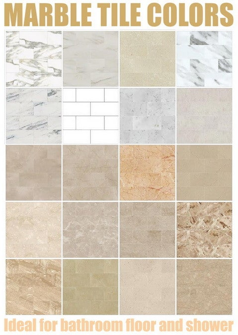 marble tile colors