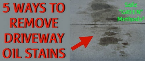 5 ways to remove oil stains from a driveway for Remove oil from concrete floor