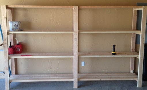 Garage Shelves DIY - How To Build A Shelving Unit With Wood ...