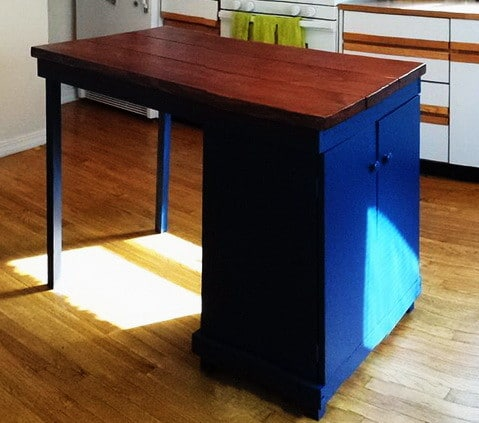 DIY Turn A Microwave Cart Into A Beautiful Rustic Kitchen Island_6