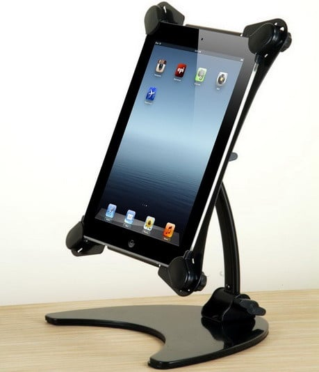 Portable And Foldable Rotating Articulating Metal Desk Stand for Apple iPad