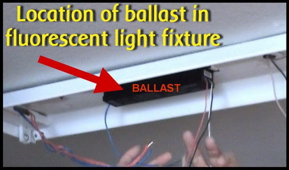 Location Of Ballast In Fluorescent Light Fixture