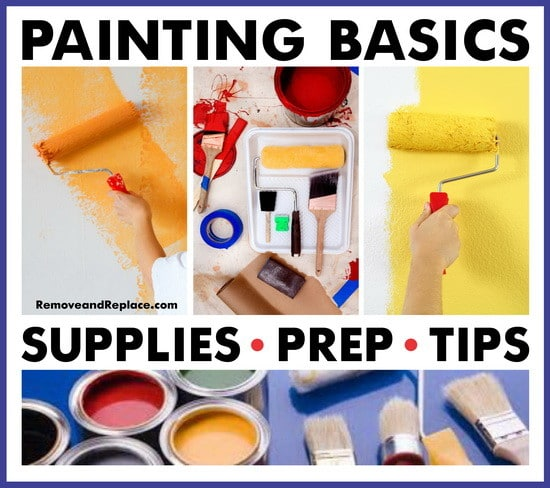 Painting basics 101 prep tips and supplies list - Supplies needed to paint a room ...