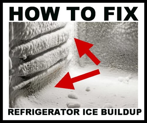 refrigerator freezer ice buildup