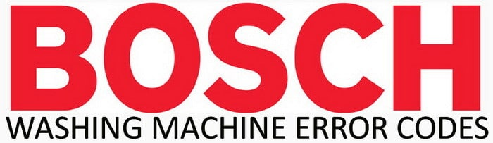 Bosch Washing Machine Error Codes
